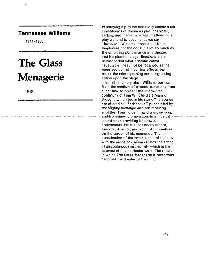 The Glass Menagerie Ebook